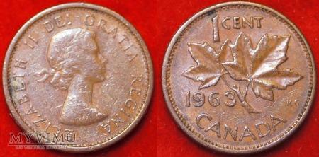 Kanada, 1 CENT 1963