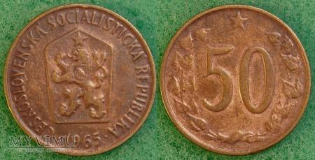 Czechosłowacja, 50 Haléřů 1965