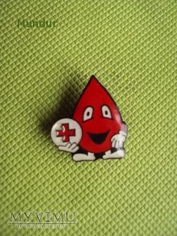 Odznaka krwiodawstwa PCK - kropla krwi