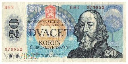 Czechosłowacja - 20 koron (1988)