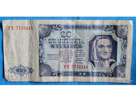 20 Złotych z 1948 r.