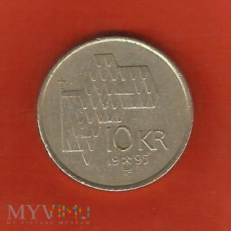 Norwegia 10 koron, 1995
