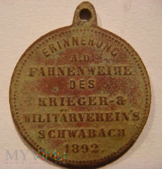 FAHNENWEIHE - SCHWABACH 1892