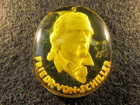 Szklane medaliony-KWHW Friedrich von Schiller