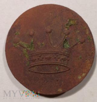 Duże zdjęcie Guzik liberyjny z pięciopałkową koroną szlachecką