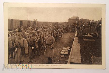 Legiony Polskie II i III Pułk na dworcu Krakowskim