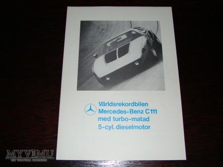 Prospekt MERCEDES-BENZ C111