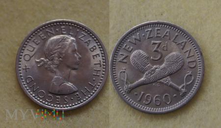 Nowa Zelandia, 3 pence 1960