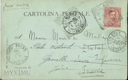 Włochy - Milano - 1900 r.