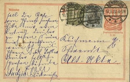 Sensburg - Alt Ukta - 1922 r.