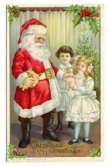 Duże zdjęcie 1913 Odwiedziny Świętego Mikołaja USA