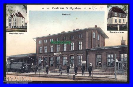GRABOWNO WIELKIE Grossgraben Dworzec kolejowy