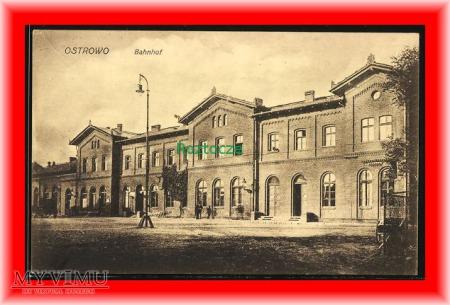OSTRÓW Ostrowo , Dworzec kolejowy