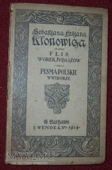FLIS , WOREK JUDASZOW i inne PISMA POLSKIE