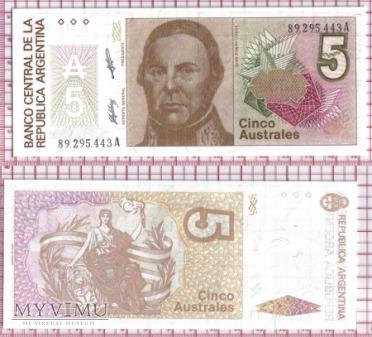 5 australes - Argentyna