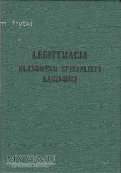 LEGITYMACJA RADIOTELEGRAFISTY