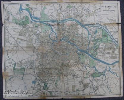 Mapa Wrocławia (Breslau) 1932 rok