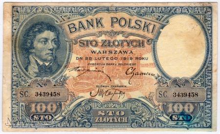 28.02.1919 - 100 Złotych
