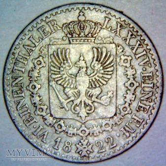 Fryderyk Wilhelm III 1797-1840-6 część talara 1822