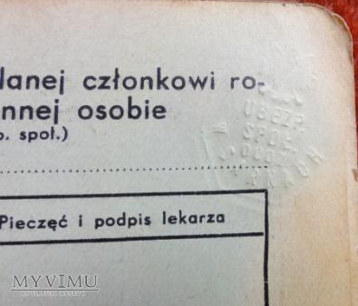 Legitymacja Ubezpieczeniowa 1927-1939