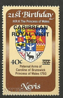 Nevis. Princess of Wales