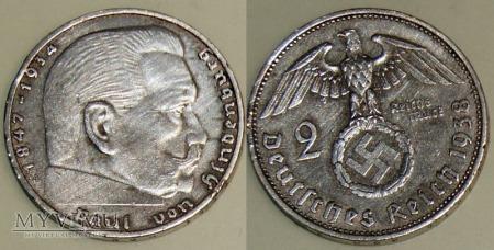 Niemcy, 1938, 2 reichsmarki