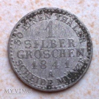 1 Silber Groschen 1841 A Prusy