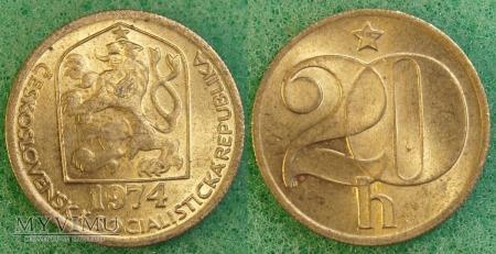 Czechosłowacja, 20 Haléřů 1974