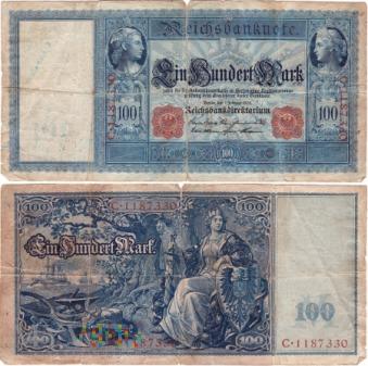 Niemcy, 100 marek 1908r. Ser.C