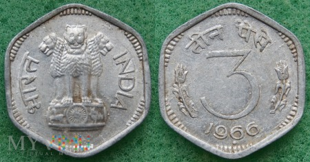 Indie, 3 Paise 1966