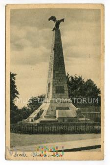 Duże zdjęcie Żywiec - Pomnik Grunwaldzki - lata 30-te