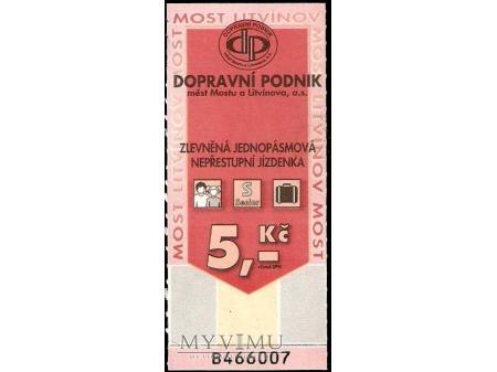 Bilet autobusowy z Czech.
