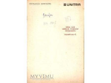 Instrukcja serwisowa gramofonu WG-580f