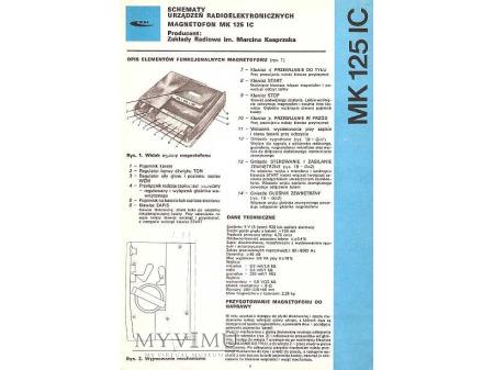 Instrukcja serwisowa magnetofonu MK-125 IC