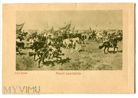 Duże zdjęcie Powrót zwycięzców, Józef Brandt, c. 1910