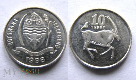 Botswana, 10 THEBE 1998