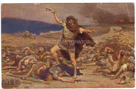 Leinweber - Samson po zwycięstwie nad Filistynami.