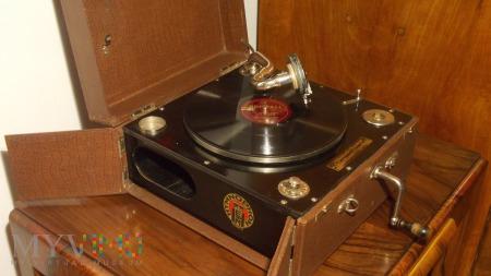 Przedwojenny patefon - Hymnophon Picnic D.R.G.M