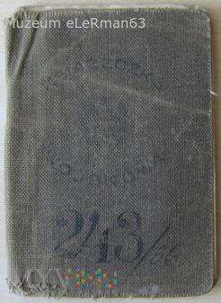 Książeczka wojskowa żołnierza 22 KT 22 DP.Przemyśl