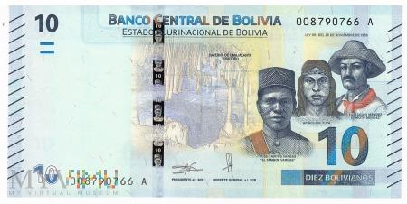 Boliwia - 10 bolivianos (2018)