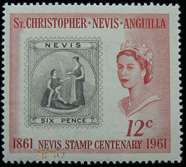 St.Christopher Nevis Anguilla 12c Elżbieta II