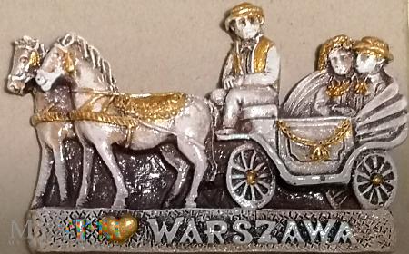 Duże zdjęcie Magnes z dorożką w Warszawie