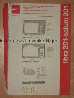 Libra 201 , Saturn 201 - telewizor schemat 1977