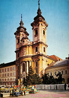Eger - Istvan Dobó + kościół