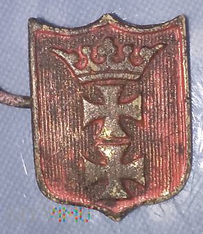 Przypinka pruska herbu gdanska