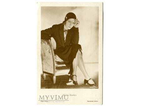 Duże zdjęcie Greta Garbo Verlag Ross 5514/5 Vintage Postcard