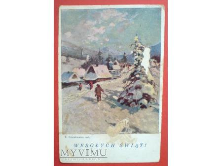Duże zdjęcie Ostatnie Święta przed wojną 1938 E.Cieczkiewicz