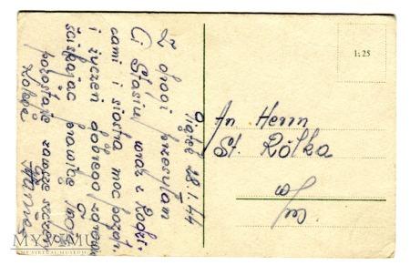 1944 Święta w czasie wojny - wyczekujące łosie