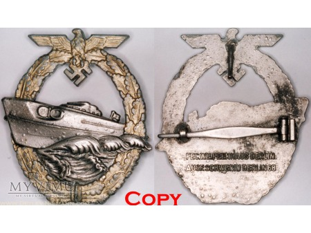 Odznaka dla Załóg Torpedowców Patrolowców wzór II