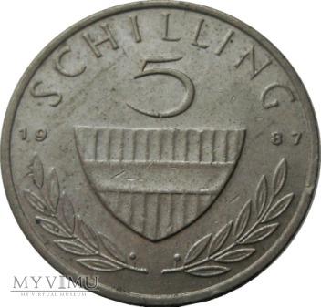5 Szylingów, 1987 rok.
